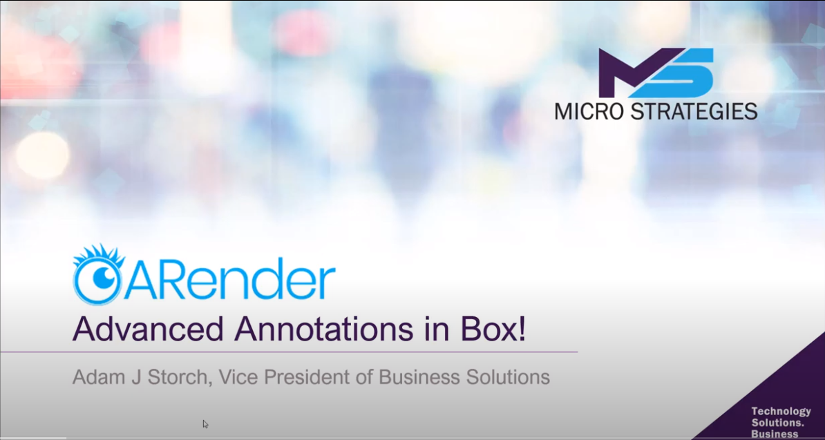 Advanced Annotations w/Arender in Box
